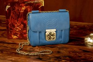 Chloe Factory Blue Python Elsie Bag