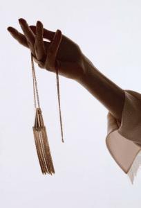 Chloe Gold Delfine Brass Pendant Necklace