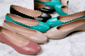 Chloe Lipstick/Pink Tea/Turquoise/Black Ballerina Flats