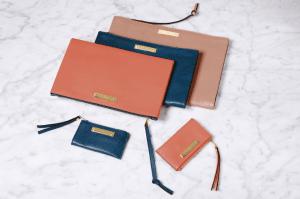 Chloe Orange Fizz /Factory Blue/Terracota Pink Fold Over Document Holders / Factory Blue/Orang Fizz Fold Over Key Pouches