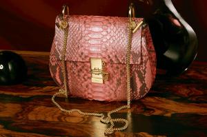 Chloe Paradise Pink Python Drew Bag