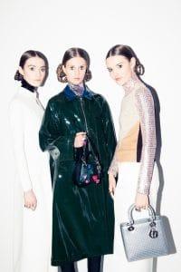 Dior Black Embellished Lady Dior Micro Bag : Silver Lady Dior Bag - Pre-Fall 2015