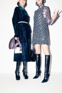 Dior Pink Lady Dior Micro Bag / Black Be Dior Flap Bag - Pre-Fall 2015
