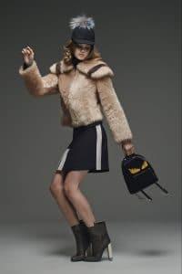 Fendi Black Fur Monster Backpack Mini Bag - Pre-Fall 2015