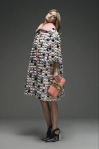 Fendi Peach Embellished Baguette Bag - Pre-Fall 2015