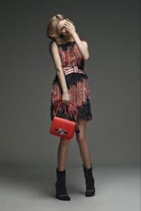 Fendi Red Baguette Bag - Pre-Fall 2015