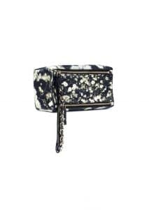 Givenchy Black/White Babybreath Pandora Wristlet Pouch Bag - Spring 2015