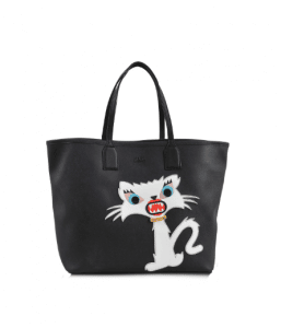 Karl Lagerfeld Black Monster Choupette Tote Bag