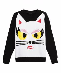 Karl Lagerfeld Choupette Cotton Sweatshirt