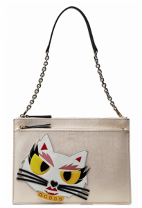 Karl Lagerfeld Cream Monster Choupette Clutch Bag