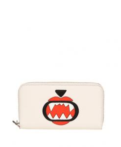 Karl Lagerfeld Cream Monster Choupette Zip Around Wallet