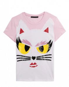 Karl Lagerfeld Ramy Choupette Cotton T-Shirt