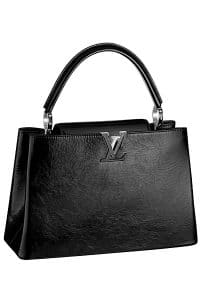 Louis Vuitton Black Capucines Tote Bag - Spring 2015