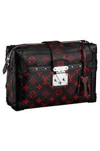 395a282df438 Louis Vuitton Black Red Monogram Canvas Pettite Malle Souple GM Bag - Spring  2015