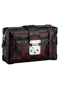 Louis Vuitton Black/Red Monogram Canvas Pettite Malle Souple MM Bag - Spring 2015