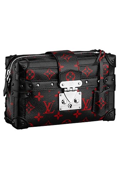 0320923ea52b Louis Vuitton Black Red Monogram Canvas Pettite Malle Souple MM Bag - Spring  2015