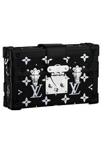 Louis Vuitton Black/White Monogram Canvas Petite Malle Bag - Spring 2015