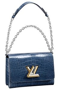 Louis Vuitton Blue Crocodile Twist Bag - Spring 2015