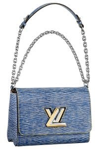 Louis Vuitton Blue Epi Denim Twist MM Bag - Spring 2015