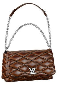 Louis Vuitton Brown Twist Malletage MM East:West Bag - Spring 2015
