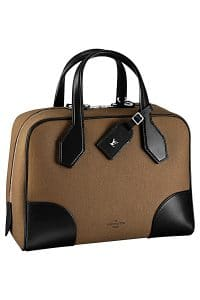 Louis Vuitton Brown/Black Canvas Dora Souple MM Bag - Spring 2015