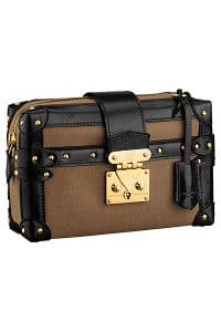 Louis Vuitton Brown/Black Canvas Petite Malle Souple MM Bag - Spring 2015