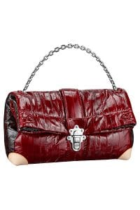 Louis Vuitton Burgundy Petite Malle Foldover GM Bag - Spring 2015