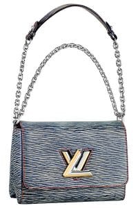 Louis Vuitton Dark Blue Epi Denim Twist MM Bag - Spring 2015