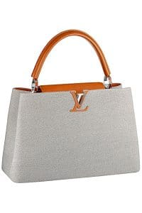 Louis Vuitton Gray Canvas Capucines Tote Bag - Spring 2015