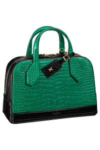 Louis Vuitton Green/Black Crocodile Dora Bag - Spring 2015