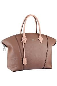 Louis Vuitton Light Brown/Pink Soft Lockit Tote Bag - Spring 2015