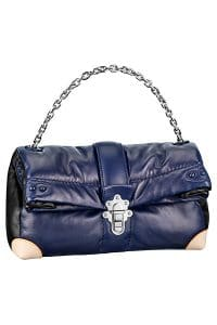 Louis Vuitton Navy Blue Cloud Clutch Lambskin GM Bag - Spring 2015