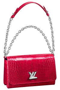 Louis Vuitton Red Crocodile Twist East:West Bag - Spring 2015