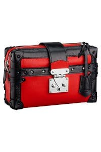 Louis Vuitton Red Petite Malle Souple PM Bag - Spring 2015