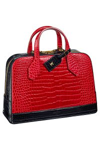 Louis Vuitton Red/Black Crocodile Dora Bag - Spring 2015