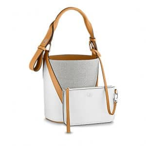 Louis Vuitton Tan V Bucket GM Bag 2
