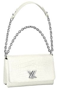 Louis Vuitton White Crocodile Twist East:West Bag - Spring 2015