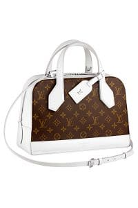 Louis Vuitton White Monogram Canvas Dora PM Bag - Spring 2015