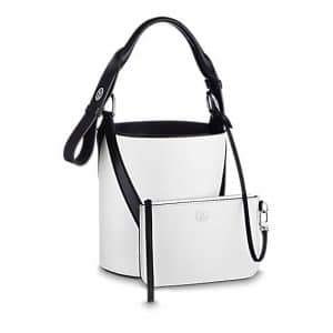Louis Vuitton White V Bucket GM Bag 2