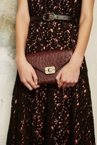 Mulberry Oxblood Ostrich Delphi Bag 4 - Pre-Fall 2015