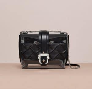 Paula Cademartori Black/Transparent Carine Bag - Cruise 2015