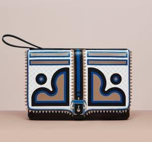 Paula Cademartori Black/White/Blue/Sand Maxy Sylvie Clutch Bag - Cruise 2015