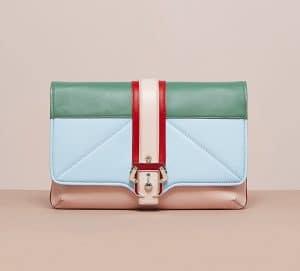 Paula Cademartori Nude/Powder Blue/Pale Green/Carnal Red Sylvie Clutch Bag - Cruise 2015