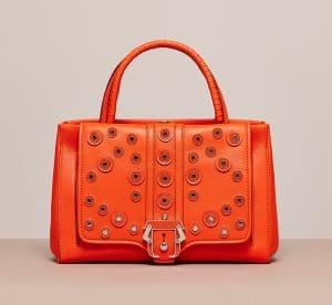 Paula Cademartori Orange Studded Daylily Bag - Cruise 2015