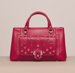 Paula Cademartori Red Studded Petite Lisa Bag - Cruise 2015