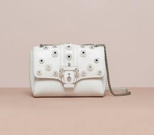 Paula Cademartori White Studded Carine Bag - Cruise 2015