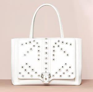 Paula Cademartori White Studded Daisy Bag - Cruise 2015