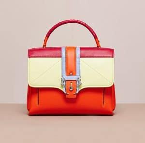 Paula Cademortori Orange/Citron/Fuchsia/Purple Grey Petite Faye Bag - Cruise 2015