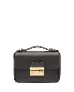 Prada Black Saffiano Mini Crossbody Clutch Bag