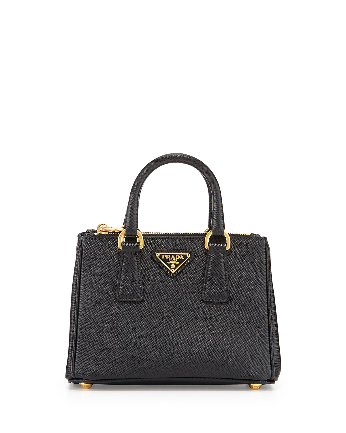 Prada Black Saffiano Mini Galleria Crossbody Bag